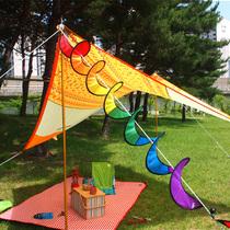 Corée du Sud en plein air coloré vent Camping Moulin À Vent Jouets étanche de Noël Bruant suspendus corde dynamique Bruant décoratif vent tube