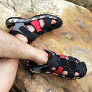 Baotou summer sandals, men's outdoor leisure sports, leather sandals, non slip, large, thick, large size, Vietnamese shoes