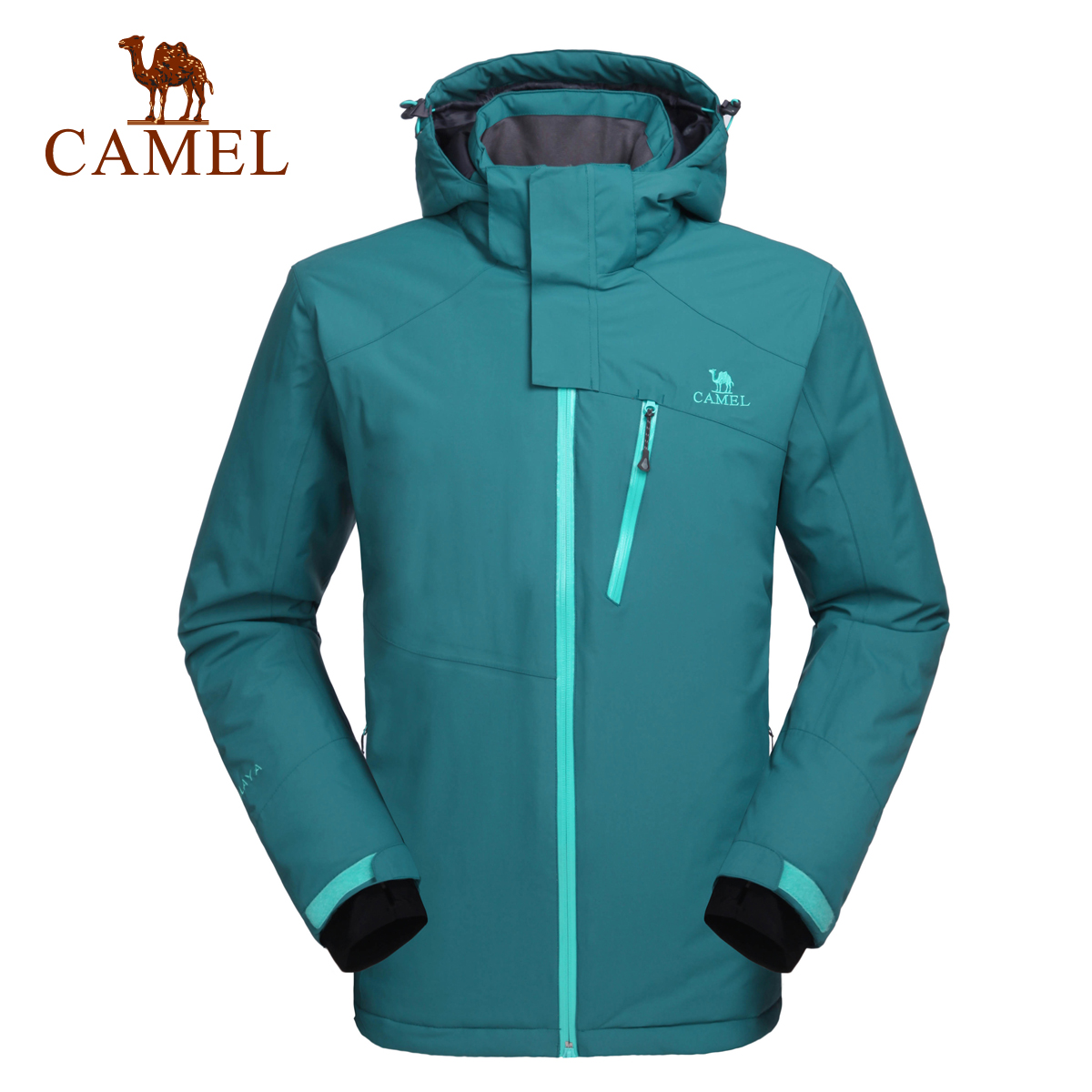 [Clearance Special] Camel outdoor men's ski suit Autumn and winter fashion jacket windproof hat warm ski suit