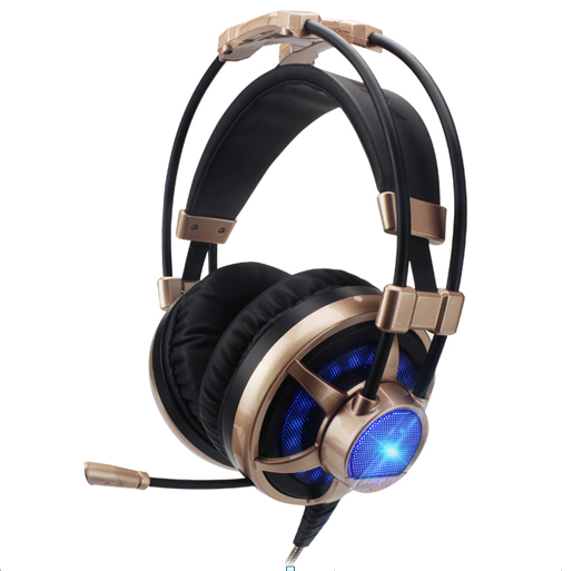Internet Cafe S500 Game Light-Emitting Headphones Head-wearing Internet Cafe Ear Competition YY Voice Belt Microphone