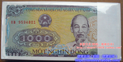 Vietnam Zhang Quanxin notes 100 vnd 1000 Vietnam shield whole knife original knife one hundred foreign paper money