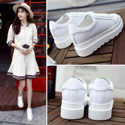 2017 new summer all-match Korean dermal increased white shoe female platform shoes shoes breathable white shoes