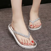 Summer fashion lady slippers sandals shoes wear sandals Korean female slippers thick bottom beach shoes