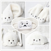 Japanese girl soft sister cute little seal cap + scarf + gloves + mask + Backpack Bag winter
