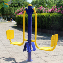 Community Square Park Outdoor Fitness Sports Path Double Sit Trainer Fitness Equipment