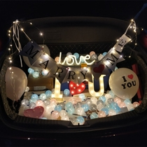 Trunk proposal surprise car tail romantic layout birthday Creative products prop led Alphabet lamp confession Artifact