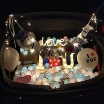 Le romantique tronc proposition surprise voiture queue décorer anniversaire créatif fournitures accessoires voyants lettre innocenter artefact