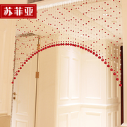 Sophia crystal bead curtain aisle curtains bedroom living room bathroom entrance curtain half finished