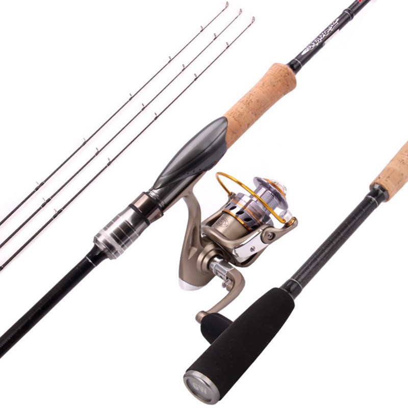 Guangwei Luya 竿 L MH Fei Pa fishing rod carbon straight handle gun handle 2.1 2.4 meters fishing rod to send a little slightly slightly