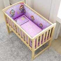 Детские плакать хлопок 5 кусок набор моющиеся хлопок основной мультфильм шаблон кроватку объемного