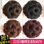 The pan head hair grip wig bud nine flower hair bag genuine meatball head Costume Wig bag force