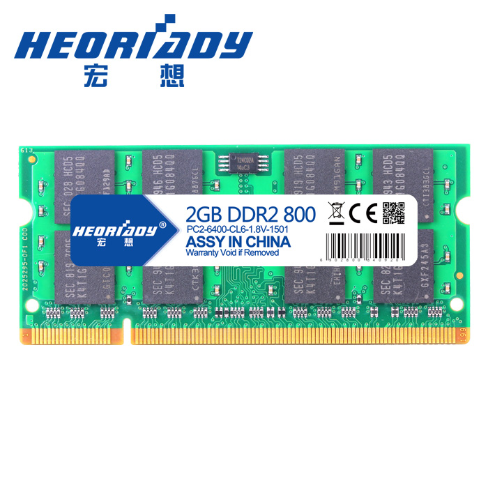 Hongxiang DDR2 2G 800 Laptop Memory Bar 2G Memory Bar Compatible 667 533 Supports Duplex