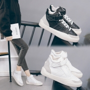 In the autumn of 2017 new Korean high shoes and sports shoes casual shoes shoes white cashmere all-match shoes shoes in winter