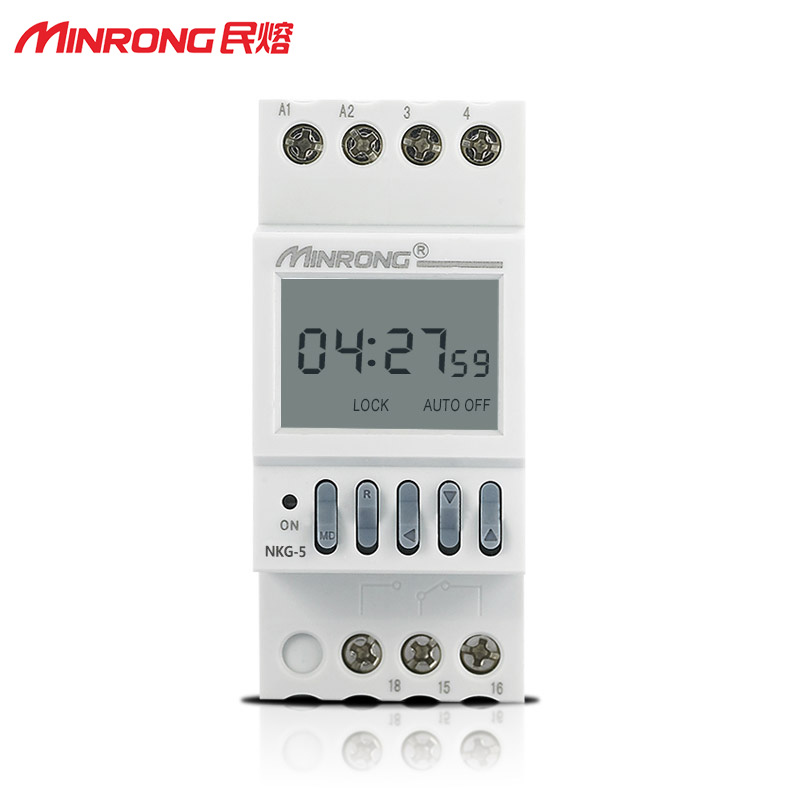 Minfu Microcomputer Dual Channel Time Control Switch NKG5 Street Lamp Timing Switch Time Controller Timing 220V