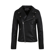 Factory direct supply female short spring and autumn slim sheep skin leather leather motorcycle leather jacket ladies small short coat