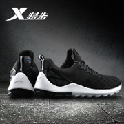 XTEP men's brand sport shoes breathable mesh summer black casual shoes new men's lightweight running shoes