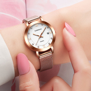 Kashidun genuine strip fashion simple girls calendar watch waterproof watch Lady quartz watch