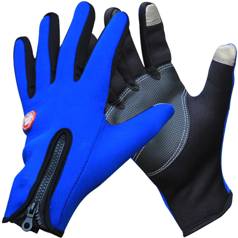 Outdoor hiking gloves for men and women riding non-slip cold warm fleece gloves autumn and winter breathable touch screen gloves