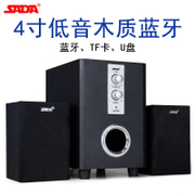 SADA Q1 Bluetooth wireless card U disk mobile phone notebook computer desktop wood sound small subwoofer speakers