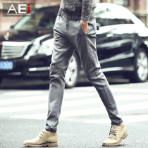 Mens spring Korean version of slim young city boy feet pants