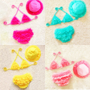 South Korea's new baby girl swimsuit Princess lace split swimsuit baby Bikini Bikini