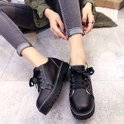 2017 New England wind in autumn and winter, thick flat casual shoes shoes merchandiser retro shoes shoes
