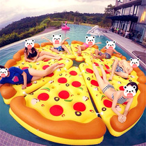 LAN Italian home large thickened inflatable bed pizza floating swimming ride drifting floating bed party styling.