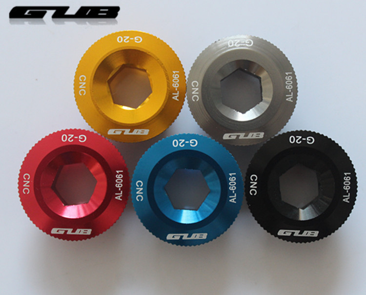 GUB G-20 Colour Aluminum Alloy BB Axle Screw Mountainous Bike Tooth Disc Cover
