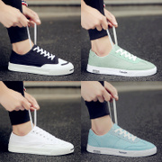 Summer all-match shoes canvas shoes mens shoes shoes low trend of Korean spring shoes white shoes