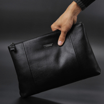 Men's Leather Handbag A4 Envelope Bag Leather Business Men's Clutch Bag Large-capacity soft leather clutch bag