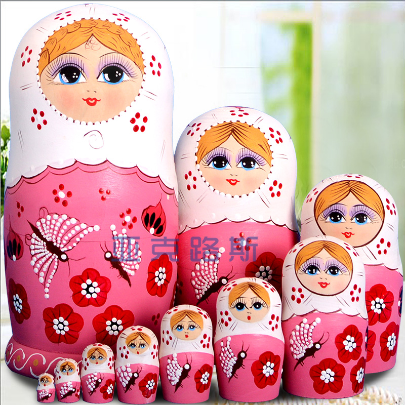 YAKELUS Authentic Basswood Original Genuine Gift Russian Matryoshka 10th Floor 1058