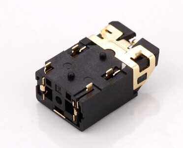 Socket 3.5 Headphone Socket Flat Audio Socket PJ-3237 Oblique Symmetrical Gold Plating 6 Foot Patches
