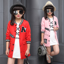Girl pupils 5-7-9-11-13 in 12 spring fashion personality characteristics in children coat