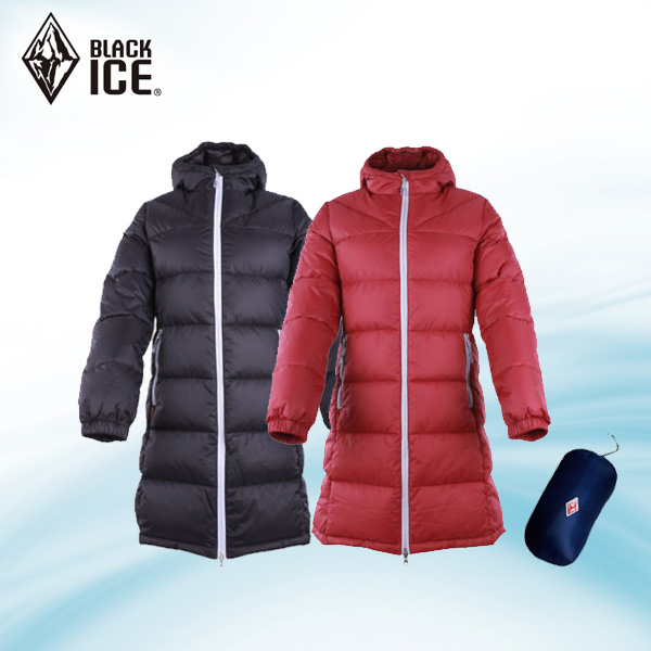 Black Ice Outdoor Female Down Garment Duck Down with Cap Long Skiing Suit F8955 Wind-proof and Warm-keeping