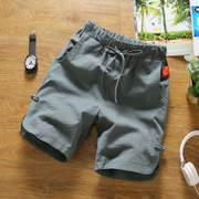 2 pieces of cotton shorts five ~ summer men's beach pants pants pants tide moving thin big pants breeches