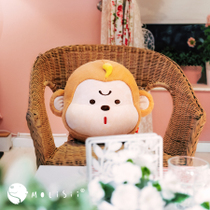 Original Design (Molisii Jasmine) upright series pillow-back scattered monkey gold cushion gift
