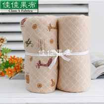 Organic cotton quilted thermal fabric air layer Jacquard knit fabrics cotton a kind of baby close deer