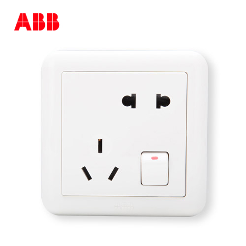 ABB switch socket in Switzerland De Jing with five-hole switch socket A five-hole socket AJ225