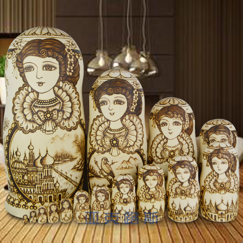 YAKELUS Authentic Beech Original Genuine Gift Matryoshka Matryoshka 15th Floor 1599