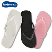 Hotmarzz black and white color flip flops ladies casual sandals women summer beach shoes pinch flat slip