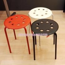 IKEA 无锡宜家国内代购 玛留斯 简约 凳子 圆凳 可摞起叠放 三色