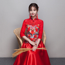 Red-Chinese-style autumn and winter show wo Clothing