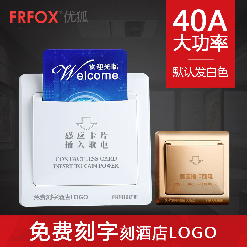Youhu Hotel Plug-in Switch 40A Low Frequency Induction Switch with Delay for Hotel Room Card