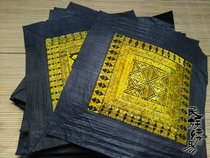Old embroidery piece Miao old embroidery piece ethnic minority handmade embroidery yellow section suitable for all kinds of uses