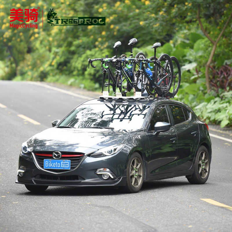 Treefrog green tree frog suction cup car roof frame road mountain car bicycle frame adsorption