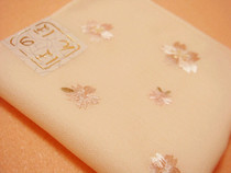 2 made in Japan cherry lady embroidery handkerchief Uno Chiyo soft cotton embroidery sweat-absorbing handkerchief
