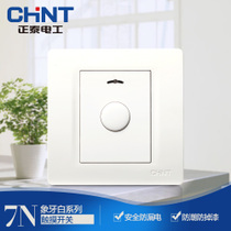 Zhengtai Electric New Product 86 type wall switch socket new7n Ivory white button delay switch panel
