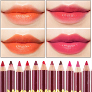 Matte lip painted matte lipstick pen pen waterproof nude color red bean aunt decolorization Red Modified contour