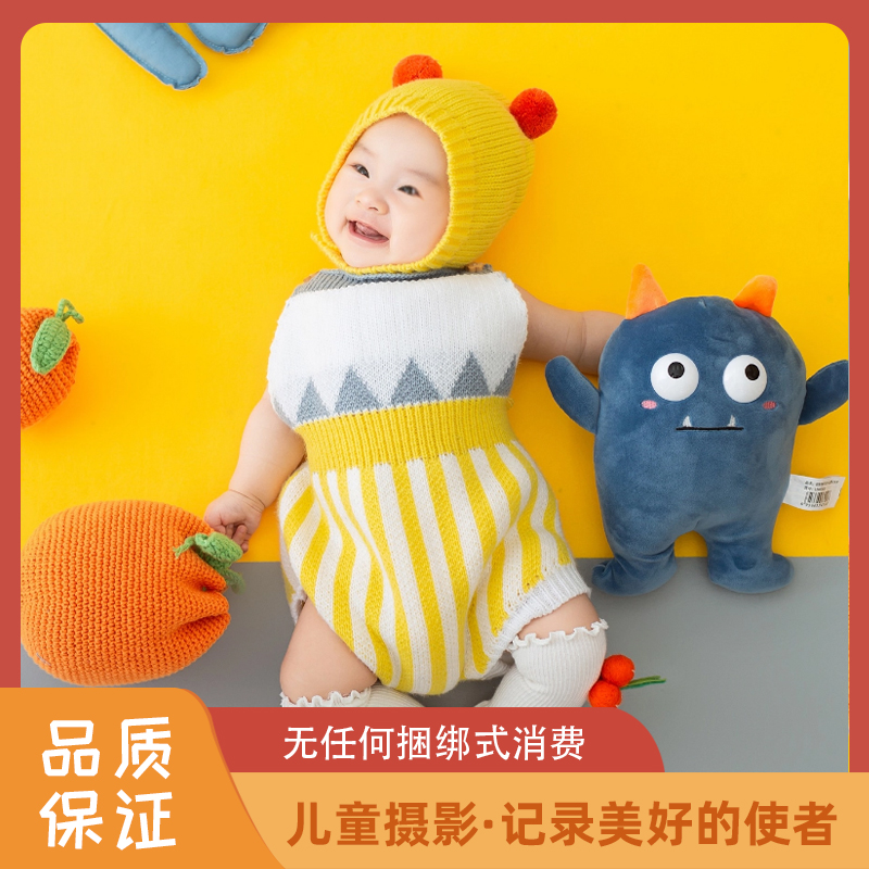Cellar shadow children photography Kunming baby photo-realistic children full moon 100-day-old parent-child record and shoot art photo