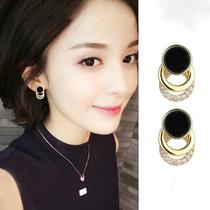 Ear studs female sterling silver temperament ear clip South Korean earring 2021 new fashion eardrop web celebrity earrings